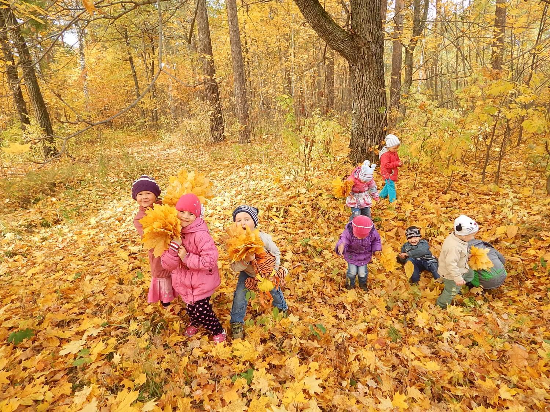 Ребенок и природа картинки осенью