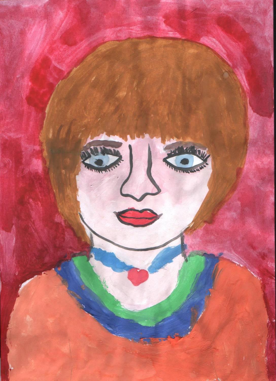 Портрет мамы ребенком фото